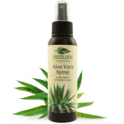 Travel Size Aloe Vera Spray - Pure, Natural, Organic - 100ml - by Green Leaf Naturals