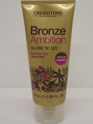 3 X BRONZE AMBITION GLOW'N'GO INSTANT TAN MEDIUM SHIMMER WASH OFF 3X100ml by Bronze Ambition