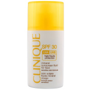 Clinique Broad Spectrum SPF 30 Mineral Sunscreen Fluid For Face 1oz/30ml