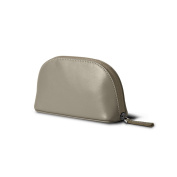 Lucrin - Makeup Bag (6.3 x 8.4cm x 5.3cm ) - Light Taupe - Smooth Leather