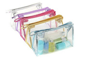 Clear Waterproof PVC Makeup Bag Organiser Cosmetic Bag Hand Pouch Tote Bag with Zipper for Travel