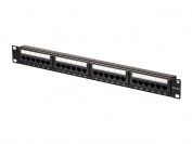 Monoprice Cat6A UTP 48cm 1U Patch Panel, 24-port