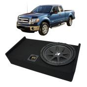 2009-2014 Ford F-150 Super Cab Truck Kicker Comp C12 Single 30cm Sub Box Enclosure - Final 4 Ohm
