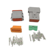 1 sets Kit DT 12 Pin Waterproof Electrical Wire Connector plug Kit DT06-12S DT04-12P 14 GA