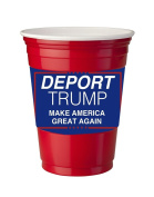 4 Pack of Vinyl Decal Stickers for Disposable Cups / Deport Trump Make America Great Again