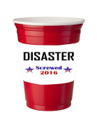 4 Pack of Vinyl Decal Stickers for Disposable Cups / Disaster Screwed 2016