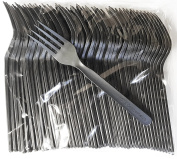 Biodegradable / Compostable Heavyweight Disposable Forks - 100 COUNT CPLA FORKS - Eco Friendly Compostable Forks made from cornstarch