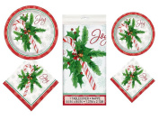 16 Guest Candy Cane Christmas party supplies bundle