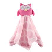 Hudson Baby Velboa Security Blanket, Pink Owl