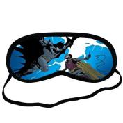 Custom Cartoon Batman Sleeping Mask, Comfortable Soft Cotton Sleeping Aids Eye Mask Cover Travel & Work Rest