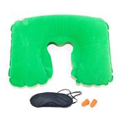 Shineweb U-Shape Memory Foam Travel Pillow, Neck Pillow with Free Eyeshade and Earplugs