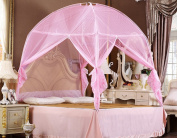 Nattey Pink Bedding Canopy Mosquito Net Tent For Twin Full Queen Small King Bed Size