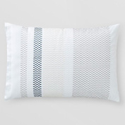 Oake Leicester Embroidered Standard Sham, Off White