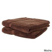 Cheer Collection Set of 2 Oversized Luxury 100% Cotton 550 GSM Soft Absorbant Bath Sheets (80cm x 180cm ) - Mocha