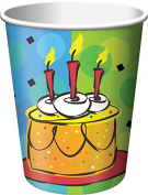 Creative Converting 8 Count Cake Celebration Hot/Cold Cups, 270ml, Multicolor
