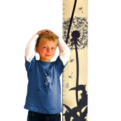 Growth Chart Art | Wooden Growth Chart Ruler for Kids | Height Chart | Baby Shower Gift | Nursery Wall Decor | Black Dandelion