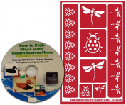 Lady Bug & Dragonfly Stencils for Glass Etching or Painting, Reusable + Free How to Etch CD