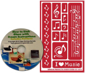 Musical Notes Stencils for Glass Etching or Painting, Reusable + Free How to Etch CD