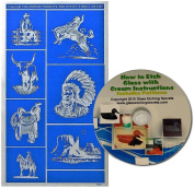 Cowboys & Indians Glass Etching Stencils, Western Series + Free How to Etch CD
