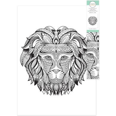 KaiserColour Colouring Poster In Tube 50cm x 70cm -Boho Lion