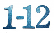 10cm Glitter Navy Blue self-adhesive Chipboard Table Numbers for Wedding / Banquets
