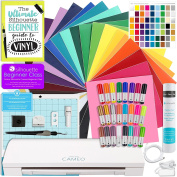 Silhouette CAMEO 3 Bluetooth Starter Bundle with 26 Oracal 651 Sheets, Swatch Book, Transfer Paper, Guide, Class, 24 Sketch Pens, and More