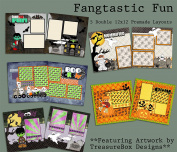 Fangtastic Fun Scrapbook Kit - 5 Double Page Layouts