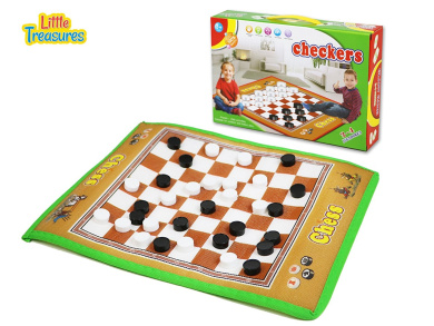 Giant Checkers Mat Game for Indoor/Outdoor Play – A Traditional Game with a Giant Twist!