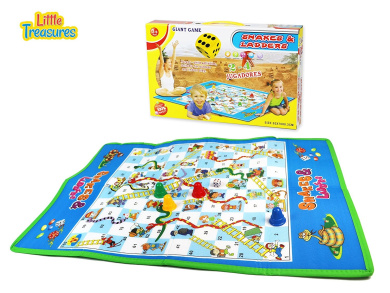 Giant Snakes and Ladders Jumbo Board Game Mat for Indoor/Outdoor Traditional Fun for the Whole Family!