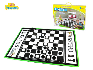 Giant Checkers Game Set for Indoor and Outdoor Play