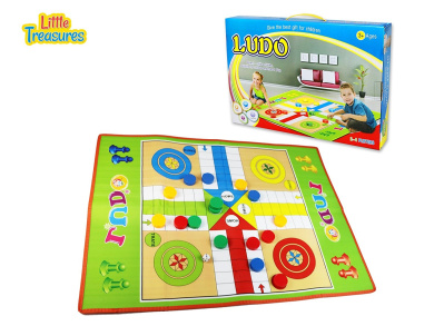 A traditional family board game of Ludo, turn and roll the dice- ideal to have hours of fun for kids 3+