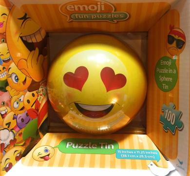 NEW Hot SELLER Toddler Kids Teens Christmas Holiday Emoji BALL PUZZLE TIN