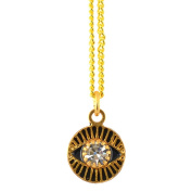 Michal Golan Small Round Evil Eye Pendant Necklace