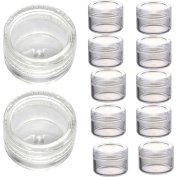 Sankuwen 50Pcs 3g Clear Plastic Empty Cosmetic Sample Containers Jars Pots Small Travel Bottle