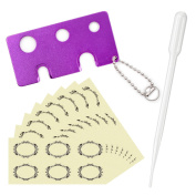 Mavogel Metal Essential Oils Opener, Essential Oil Key Tool For Easily Remove Roller Balls , Caps on Most Bottles -- 48pc Essential Oil Bottles Labels and 3ml Transfer Pipettes Included