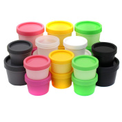 3 Pcs 100ml Empty Refillable Plastic Mask Bowl Bottle Cosmetic Container Pot Case Jar with Lid Colour Random