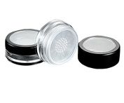 3 Pieces 10G 10ml Empty Loose Face Powder Blusher Puff Case Box Makeup Cosmetic Jars Containers with Sifter Lids