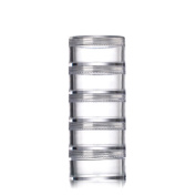 3 Pcs 5 Layer 5 Gramme Connected Bottle Cream Box Split Charging Case Container Organiser Great for Travel