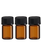 12Pcs 2ml Empty Glass Bottles Container Holder with Composite Plug Perfect for Essential Oil Perfume