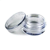 AEXGE™3ML 3Gram Empty Clear Plastic Cosmetic Container Jars with Screw Cap Lids For Eye shadow Makeup Nail Powder Etc