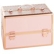 Beautify Large Cosmetic Organiser Case - 36cm Professional Aluminium Makeup Storage Box