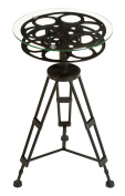 Accent Furniture - metal glass accent table a tripod table