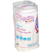 Maxim Hygiene Products Organic Cotton Rounds, Extra Large, 50 Count by Buy Smart LLC