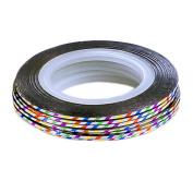 10Pcs Rolls Striping Tape Line Nail Art Tips Decoration Sticker, Colourful