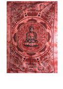 YAPREE HANDMADE COTTON TAPESTRY BEDSPREAD WALL HANGING BUDDHA IN LOTUS