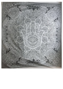 YAPREE HANDMADE COTTON TAPESTRY BEDSPREAD WALL HANGING BLACK AND WHITE HAND HAMSA