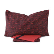 Milan Complete Bedding Set, Red/Black, 150 x 52 x 295 cm 90 x 200 cm/80 cm