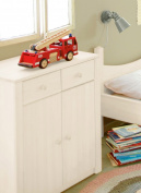 White Changing table, chest of drawers Noah, 90x79x50 cm biological massive pine wood