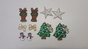 CraftbuddyUS 10 Iron On Stick, Sew On Christmas Motifs, Craft, Sewing, Embroidery Patches