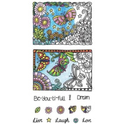 Hampton Arts Colour Me Clear Stamps ~ Beautiful